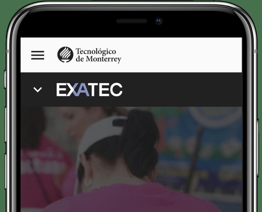 Celular con app EXATEC